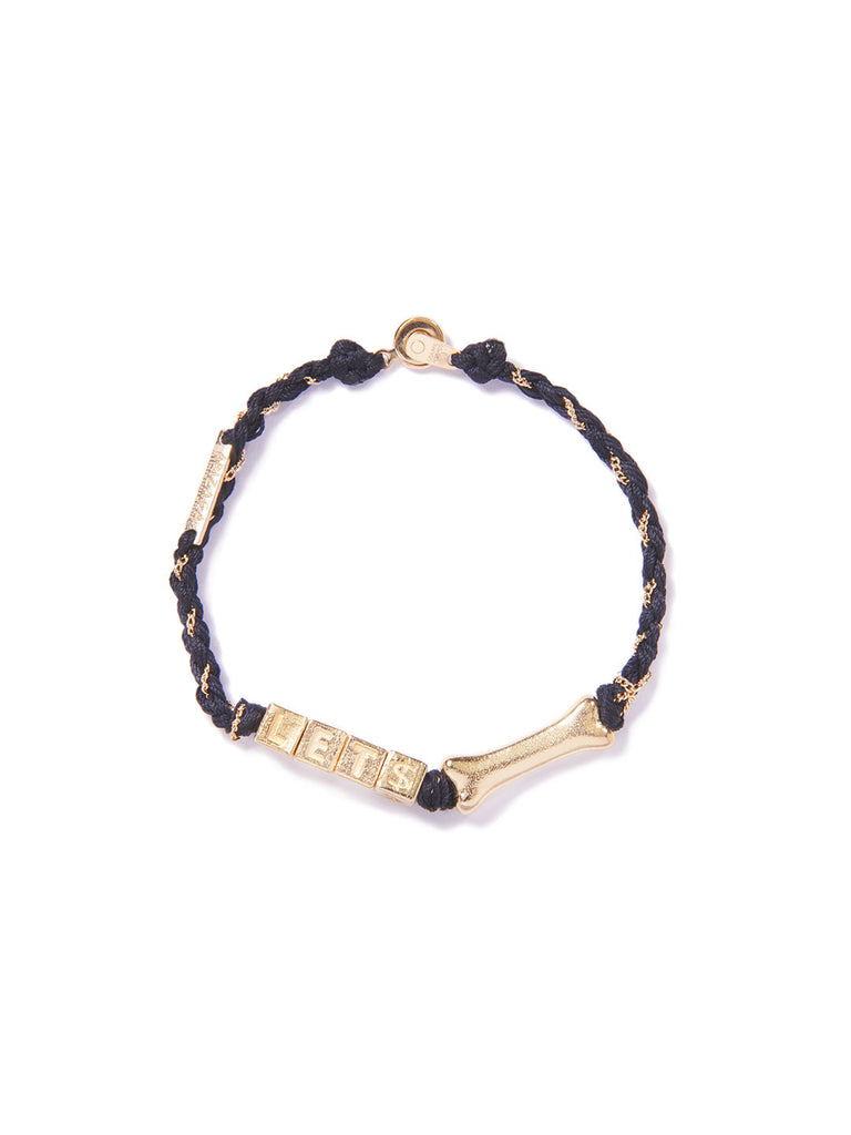 LET'S BONE BRACELET GOLD - Venessa Arizaga