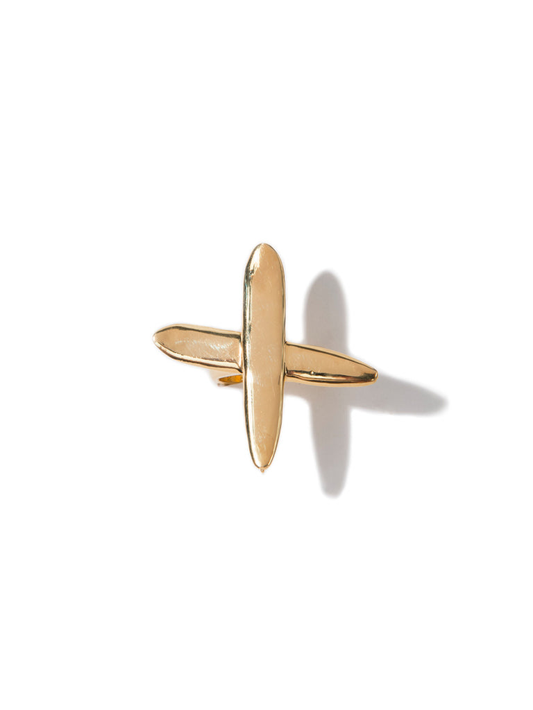 PRAY FOR WAVES RING GOLD RING - Venessa Arizaga
