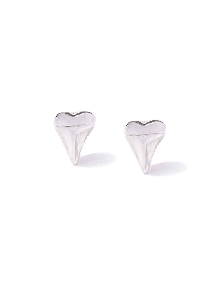 MINI SHARK'S TOOTH CUFF LINKS SILVER