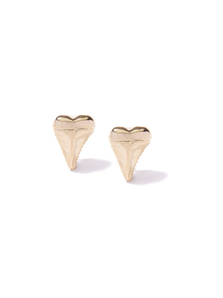MINI SHARK'S TOOTH CUFF LINKS GOLD