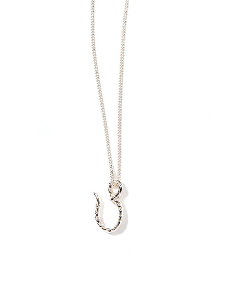 BIG HOOKER NECKLACE SILVER