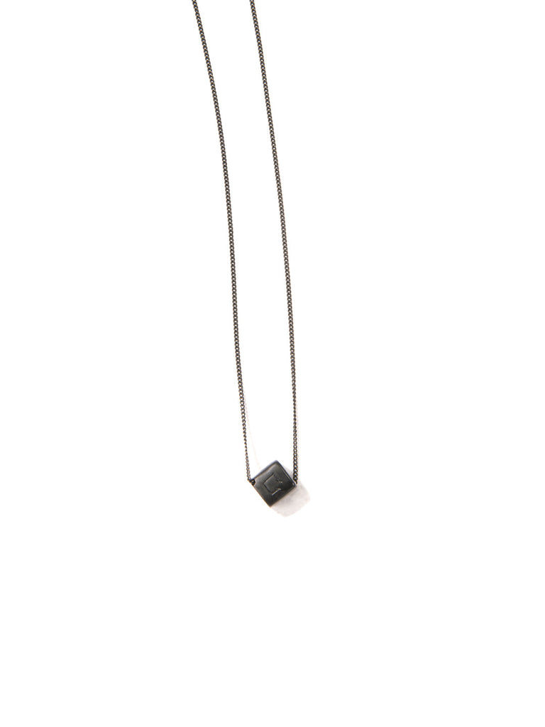 FUCK IT NECKLACE MATTE BLACK NECKLACE - Venessa Arizaga