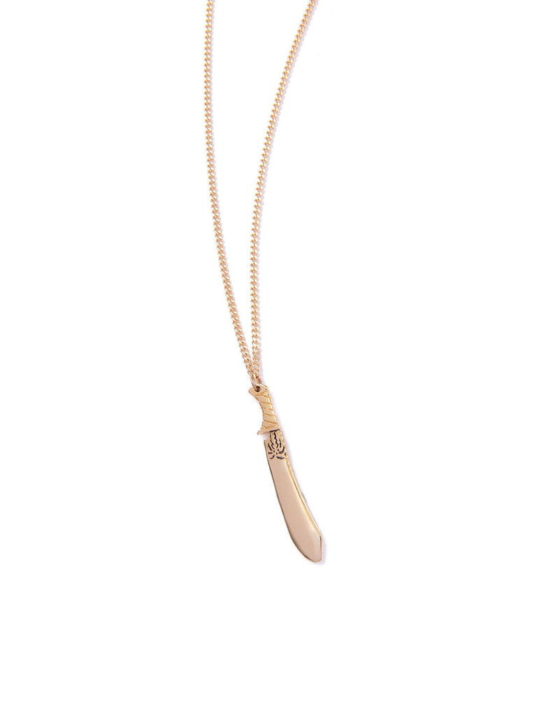 MACHETE NECKLACE GOLD