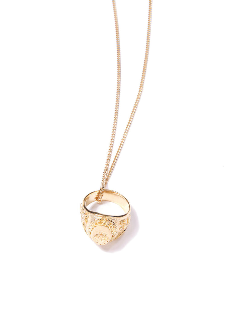 ARIZAGA RING NECKLACE GOLD NECKLACE - Venessa Arizaga