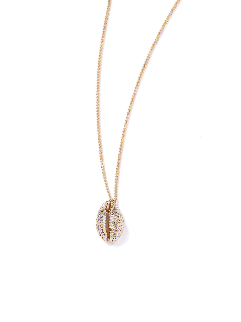 COWRIE SHELL NECKLACE GOLD