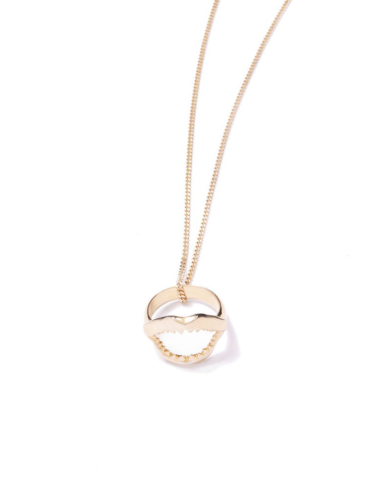 SHARKY RING NECKLACE GOLD