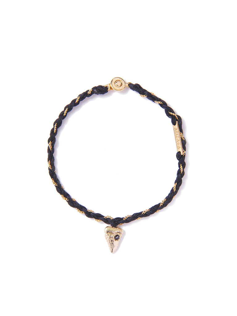 TROUBLE IN PARADISE BRACELET BLACK & GOLD