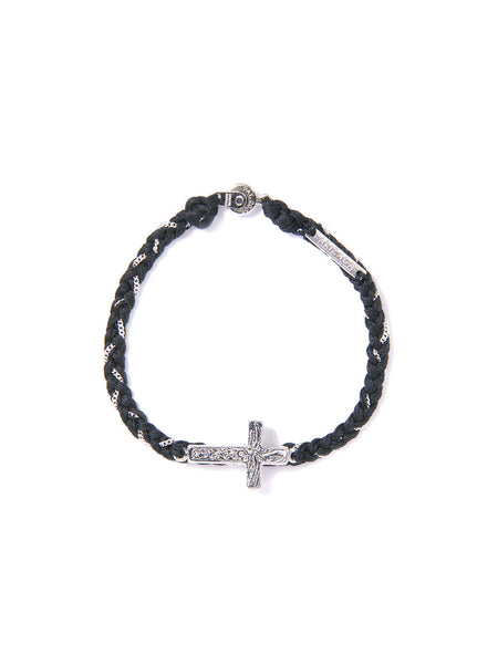 PRAY FOR RAIN BRACELET BLACK & SILVER
