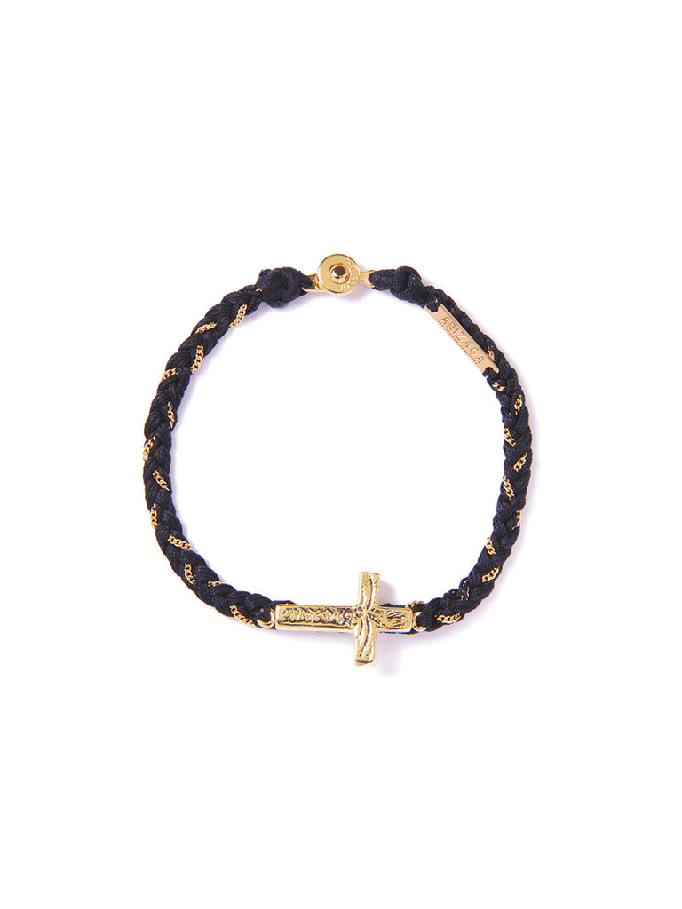 PRAY FOR RAIN BRACELET BLACK & GOLD