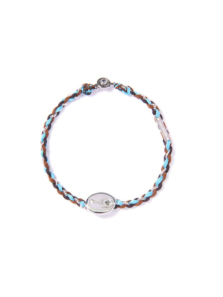 LAS PALMAS BRACELET BLACK/BROWN/BLUE