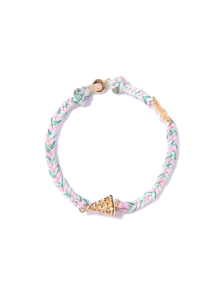 PIZZA BRACELET GREEN & PINK