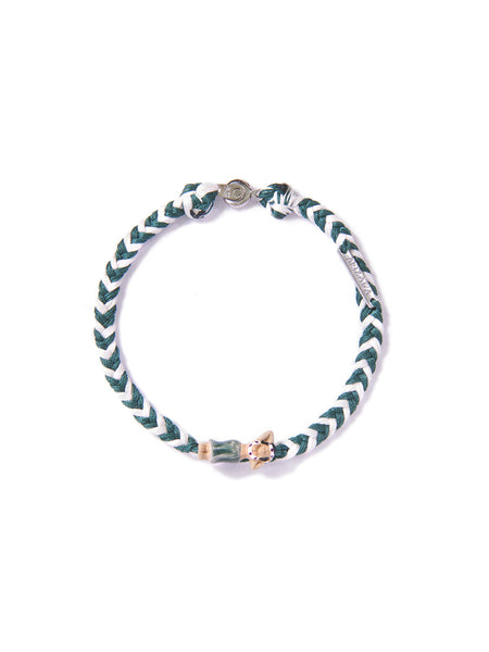 HULA BRACELET GREEN & WHITE