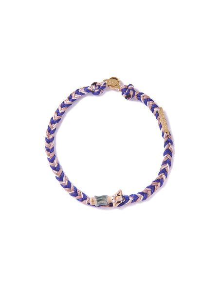 HULA BRACELET BLUE & BROWN