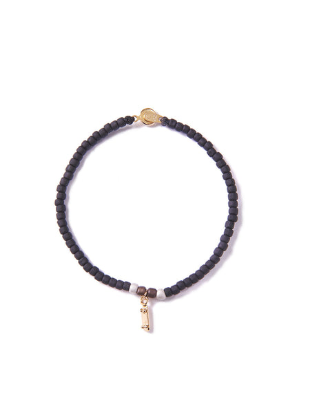 SKATE OR DIE BRACELET BLACK & GOLD