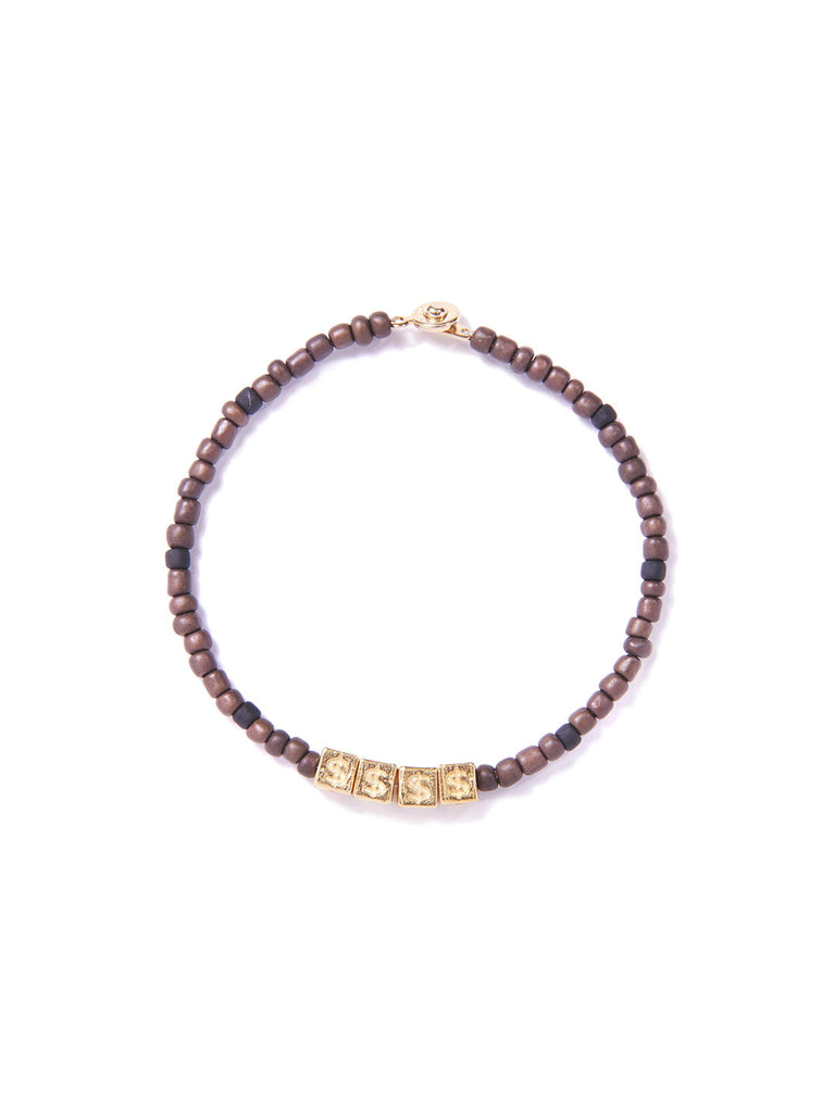 MONEY BRACELET BROWN & GOLD