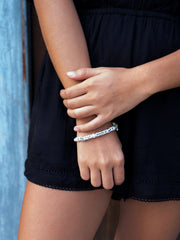 DON'T WORRY BEE HAPPY PEARL BRACELET BRACELET - Venessa Arizaga
