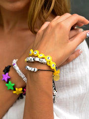 SMILE BRACELET SET (BLACK)