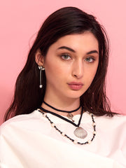 SEA OF LOVE NECKLACE (BLACK) NECKLACE - Venessa Arizaga