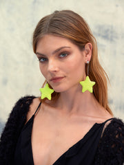 SHOOTING STAR EARRINGS (NEON YELLOW)