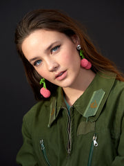 CHERRY PICKING EARRINGS (PINK)
