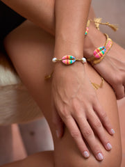 MOONLIGHT BEACH BRACELET (RAINBOW STRIPE)