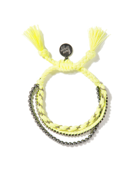 RAINBOW BABE BRACELET (NEON YELLOW)