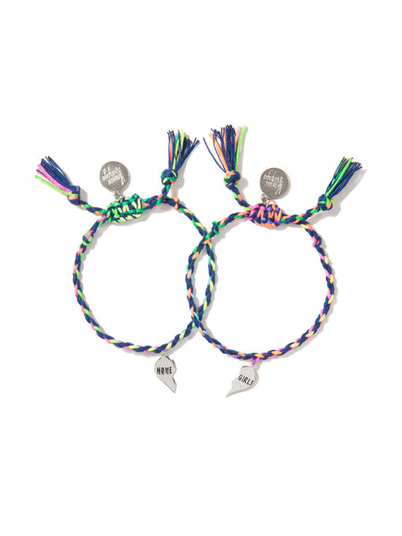 HOME GIRLS BRACELET SET (BLUE RAINBOW)