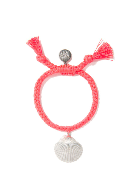 WHAT THE SHELL? SCALLOP BRACELET (CORAL)