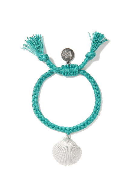 WHAT THE SHELL? SCALLOP BRACELET (TEAL)