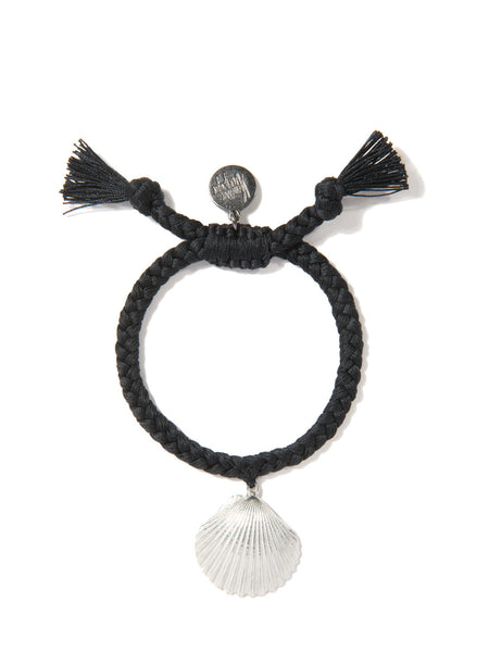 WHAT THE SHELL? SCALLOP BRACELET (BLACK)