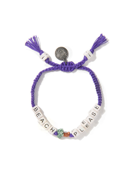BEACH PLEASE BRACELET (PURPLE)