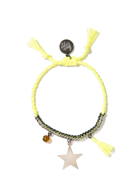 LUCKY STAR BRACELET (NEON YELLOW)
