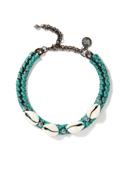 SHELL WE DANCE? CHOKER (TEAL)