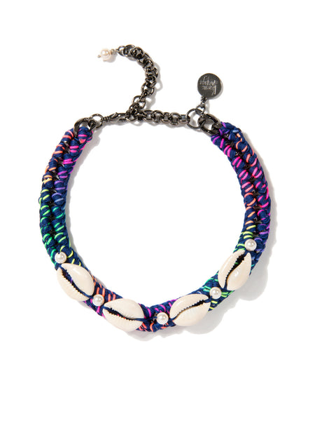 SHELL WE DANCE? CHOKER (BLUE RAINBOW)