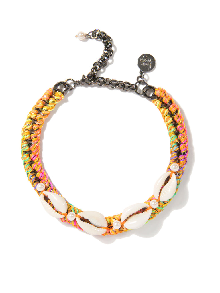 SHELL WE DANCE? CHOKER (SUNSHINE RAINBOW) NECKLACE - Venessa Arizaga
