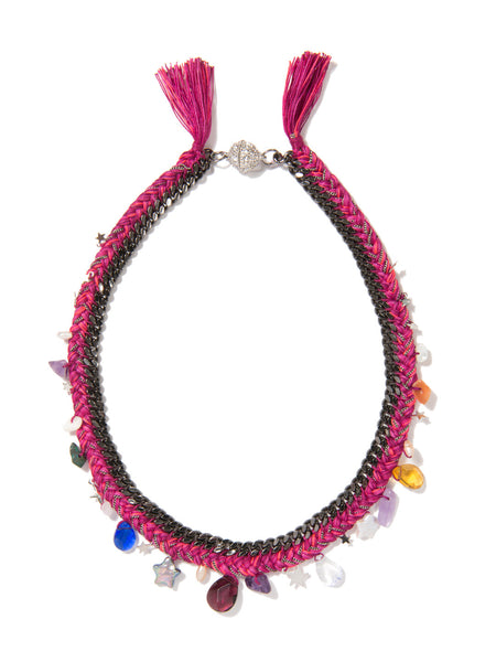 WISHING STAR NECKLACE (MAGENTA)