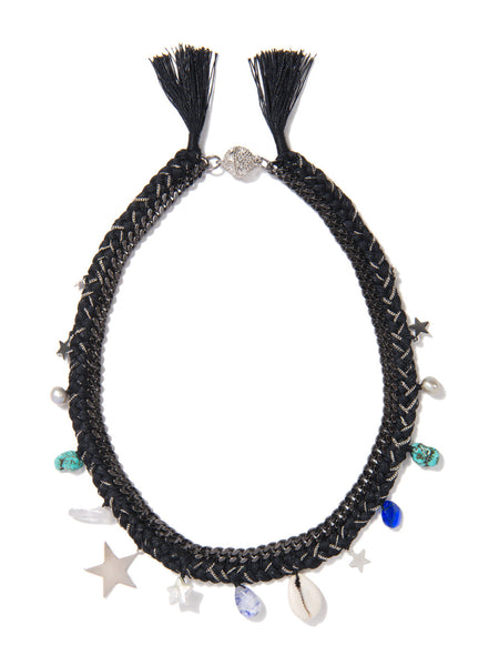 WISHING STAR NECKLACE (BLACK)
