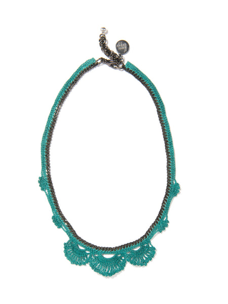 WILDFLOWER NECKLACE (TEAL)