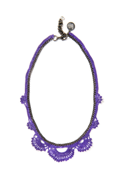 WILDFLOWER NECKLACE (PURPLE)