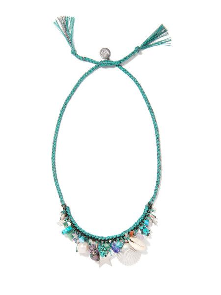 UNDERNEATH THE STARS NECKLACE (TEAL)