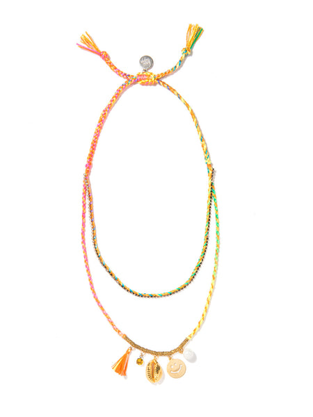 FUN AT THE BEACH NECKLACE (SUNSHINE RAINBOW)
