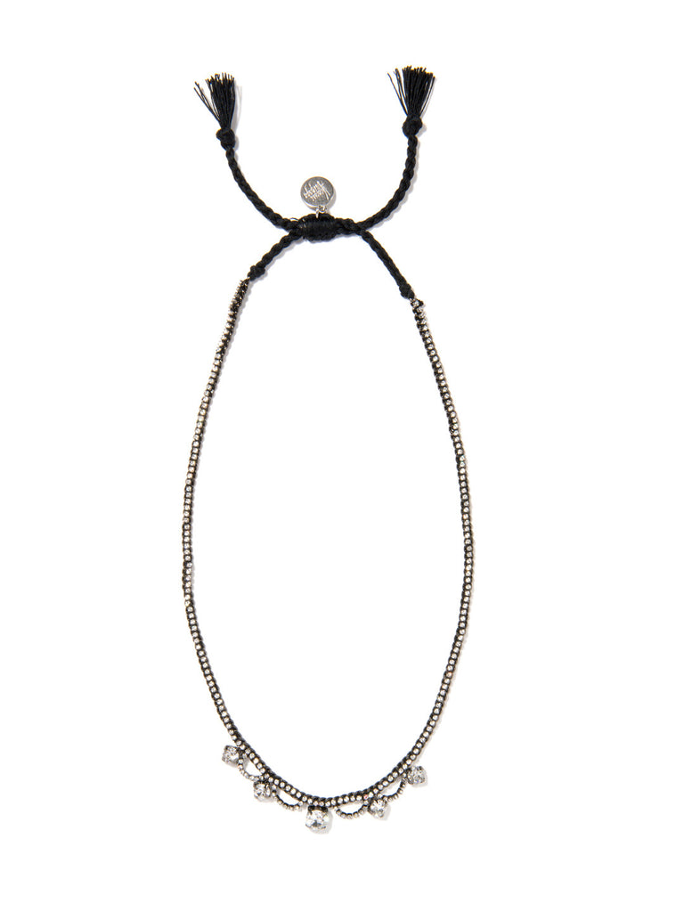 TWILIGHT GARDEN NECKLACE (BLACK) NECKLACE - Venessa Arizaga