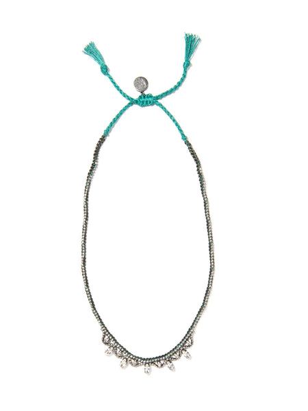 COSMIC LOVE NECKLACE (TEAL)