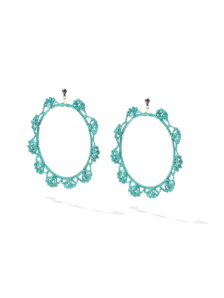 SHADES OF COOL EARRINGS (TEAL)