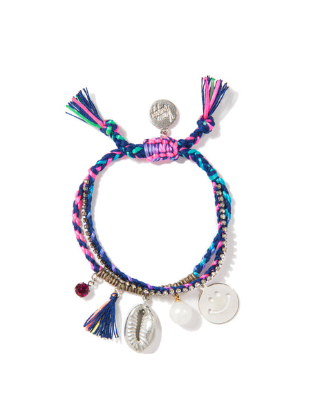 FUN AT THE BEACH BRACELET (BLUE RAINBOW)