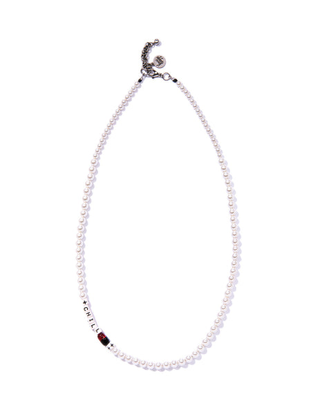 CHILL PILL PEARL NECKLACE