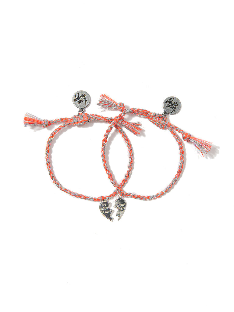 MADE FOR EACH OTHER BRACELET SET (FLAME ORANGE) BRACELET - Venessa Arizaga
