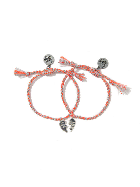MADE FOR EACH OTHER BRACELET SET (FLAME ORANGE)