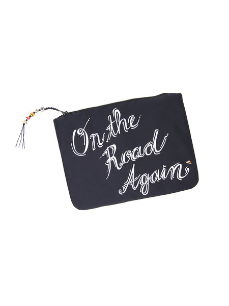 ON THE ROAD AGAIN CLUTCH BAG