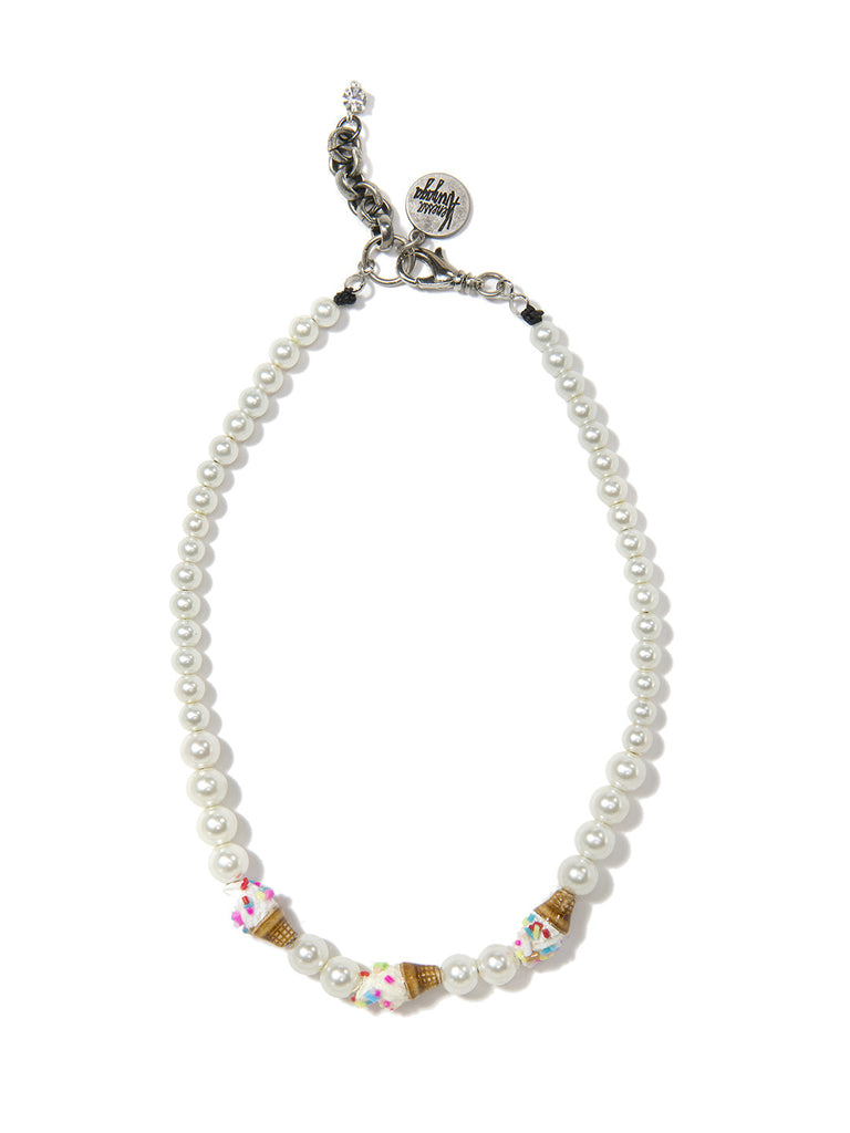 GAME OF CONES PEARL NECKLACE - Venessa Arizaga